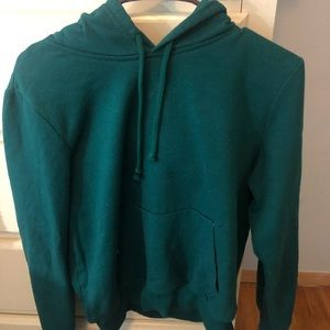 Turquoise pullover hoodie